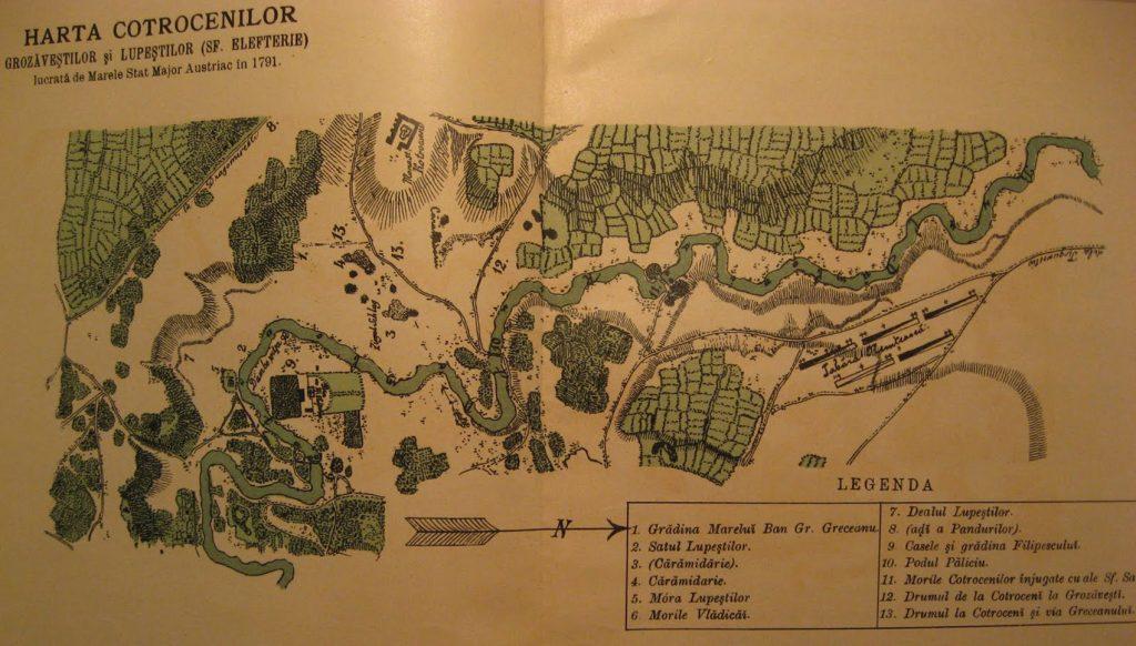 Harta Grozavestilor si Lupestilor 1791