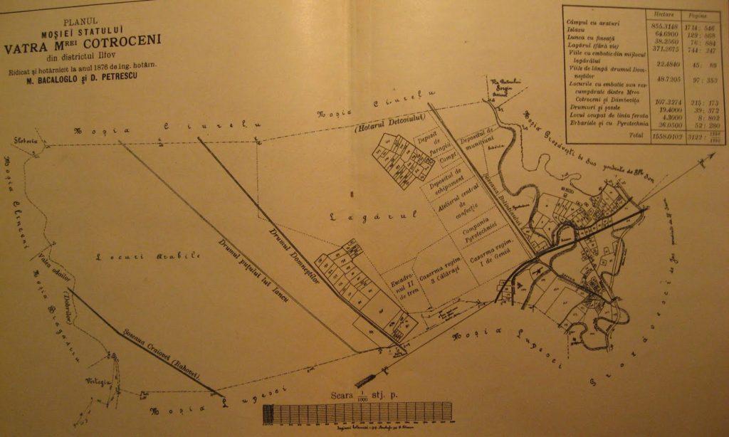 harta cotroceni 1876