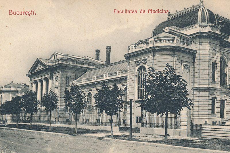 Facultatea de Medicina Umana Carte Postala anul 1910