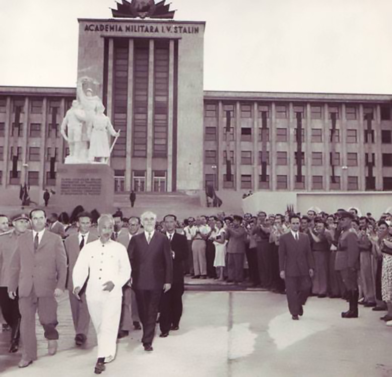 Ho Si Min ( Ho Chi Minh ) ACADEMIA MILITARA 1957 Cotroceni