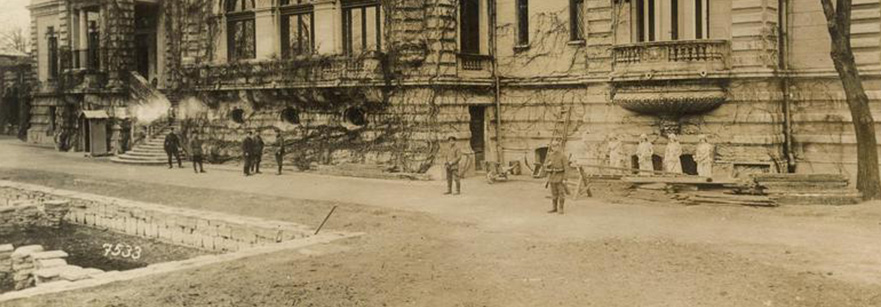 palatul cotroceni poza sepia anul 1918