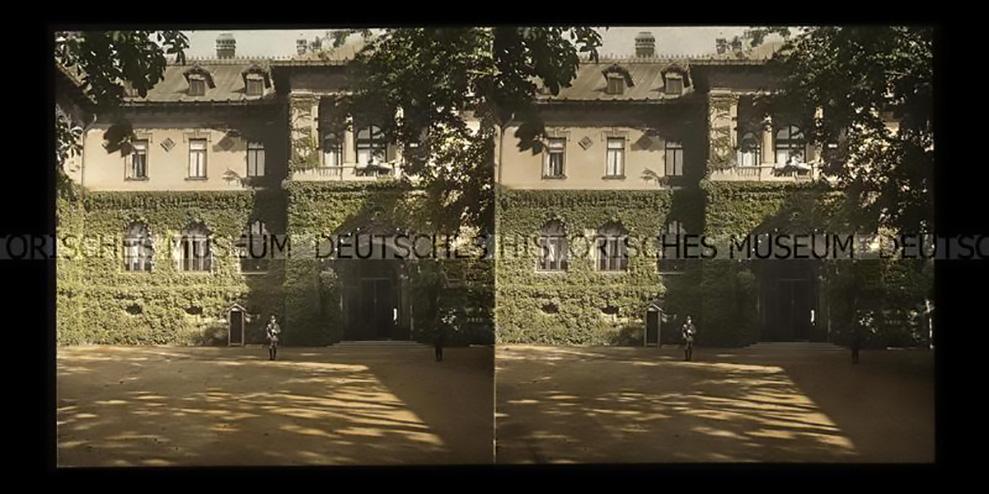 palatul cotroceni poza color anul 1918