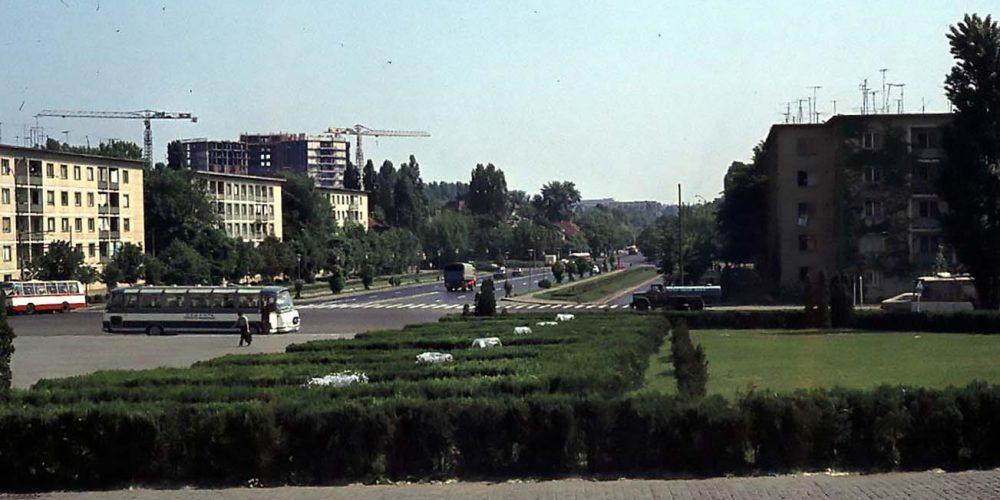 imagini poze fotografii vechi cartierul cotroceni spitalul municipal bucuresti in constructie anul 1976 fotograf Mike Lidgley