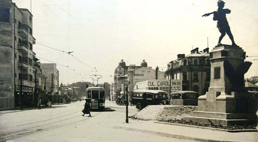 imagini poze fotografii carti postale vechi artierul cotroceni pod cotroceni anul 1935
