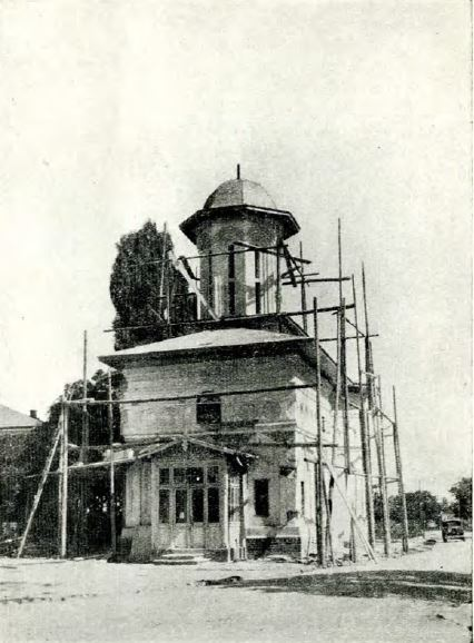 biserica sf elefterie vechi cartierul cotroceni in timpul restaurarii anul 1931