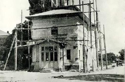imagini bucuresti interbelic biserica sf elefterie vechi cartierul cotroceni in timpul restaurarii anul 1931