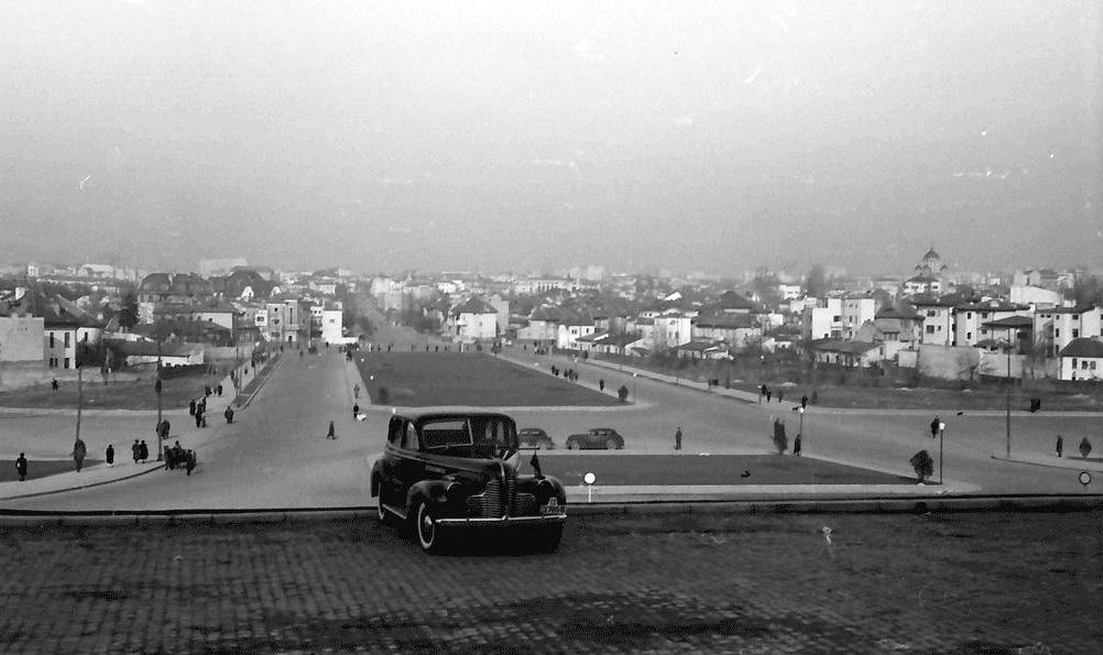 scoala superioara de razboiu academia militara cartier cotroceni poza de pe platou fotografie imagine veche bucuresti interbelic