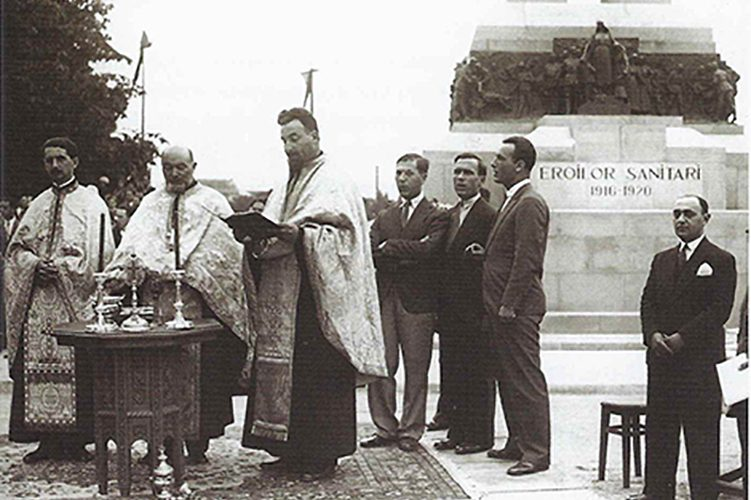 monumentul eroilor sanitari cotroceni imagini poze fotografii vechi bucuresti slujba religioasa ortodoxa