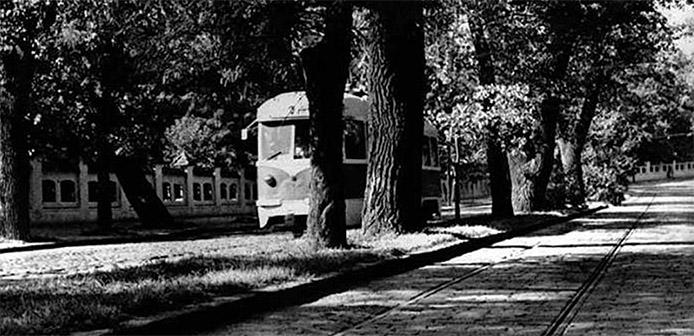 Bucuresti Bucuresci Cartierul Cotroceni perioada comunista cadre imagini poze vechi tramvai electric pe Şoseaua Cotroceni anul 1956 - cover