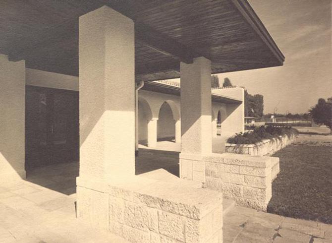 gradina botanica bucuresti cotroceni anul 1935 - cladirea restaurantului cofetarie proiectata de arhitectul Octav Doicescu - perioada interbelica 5