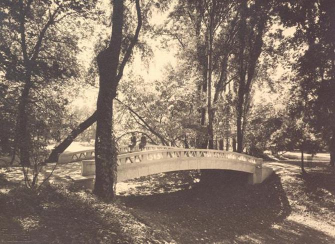 gradina botanica din bucuresti cotroceni anul 1935 - perioada interbelica - fotografie veche 3