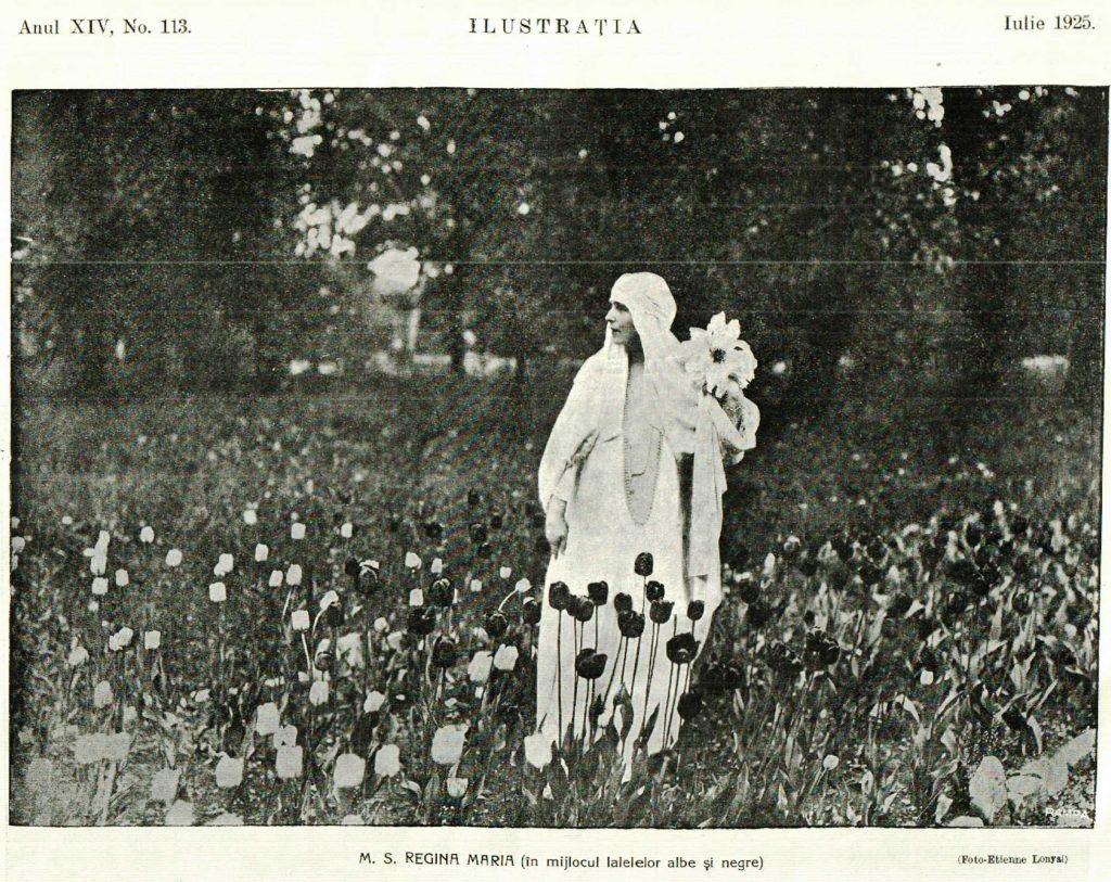 M.S. Regina Maria in Parcul Palatului Cotroceni anul 1925 - Bucuresti interbelic, imagini regalitate, bucurestii vechi- foto Etienne Lonyai