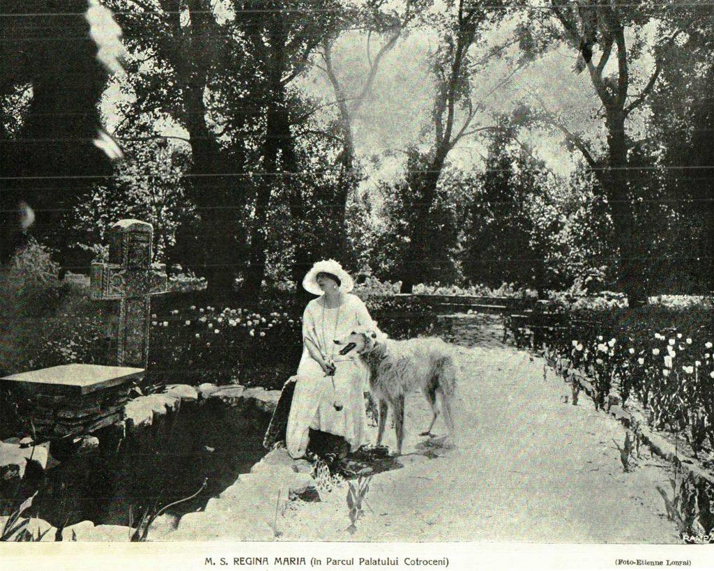 M.S. Regina Maria in Parcul Palatului Cotroceni -perioada interbelica bucurestii vechi bucuresci bukarest- foto Etienne Lonyai